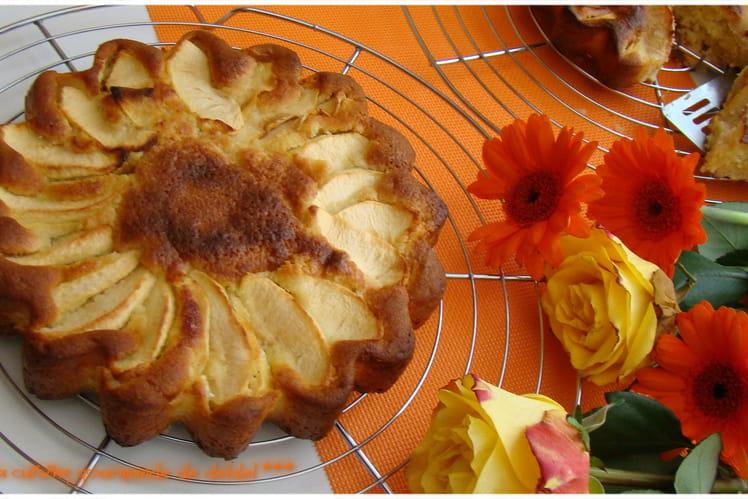 Gâteau moelleux aux pommes à la frangipane