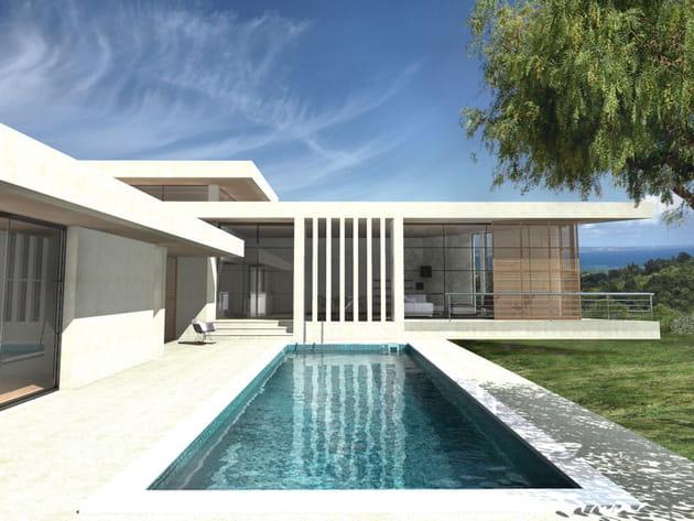 Maison avec panneaux de bois