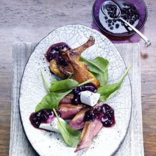 magrets de canard sauvage et salade de pousses