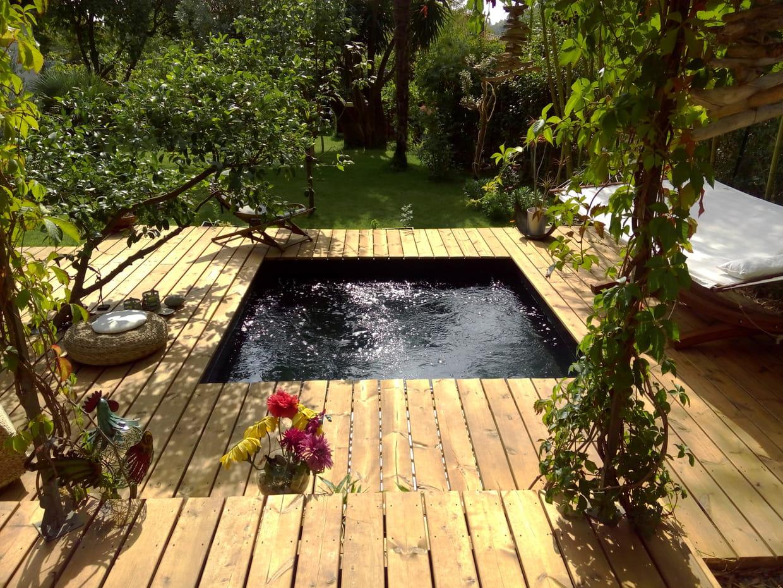 Piscine install e par un particulier troph e d 39 argent - Petite piscine couverte ...