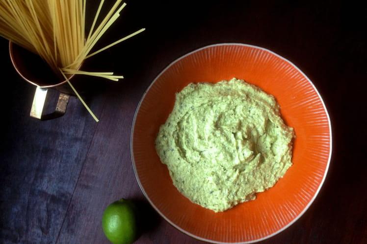 Pâtes à la sauce Avocat Citron Vert Basilic