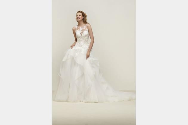 Robe de mariée Drapin de Pronovias