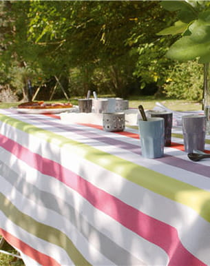 linge de table rayé multicolore de cyrillus
