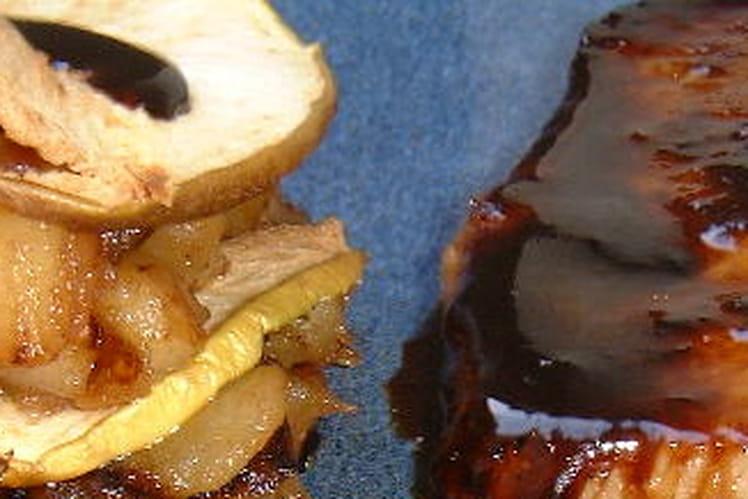 Sucré-salé de porc aux pommes