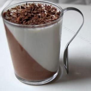 crème au chocolat et au lait de coco