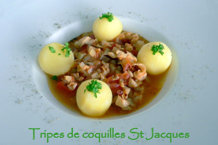 Tripes de coquilles Saint-Jacques