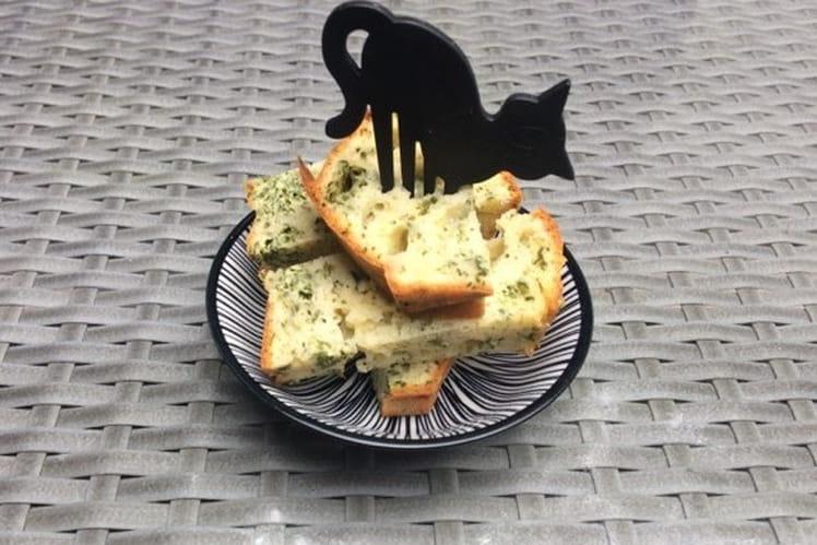 Cake aux fanes de carottes et Munster