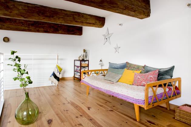 Une mezzanine haute en couleurs