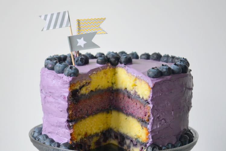 Layer cake aux myrtilles