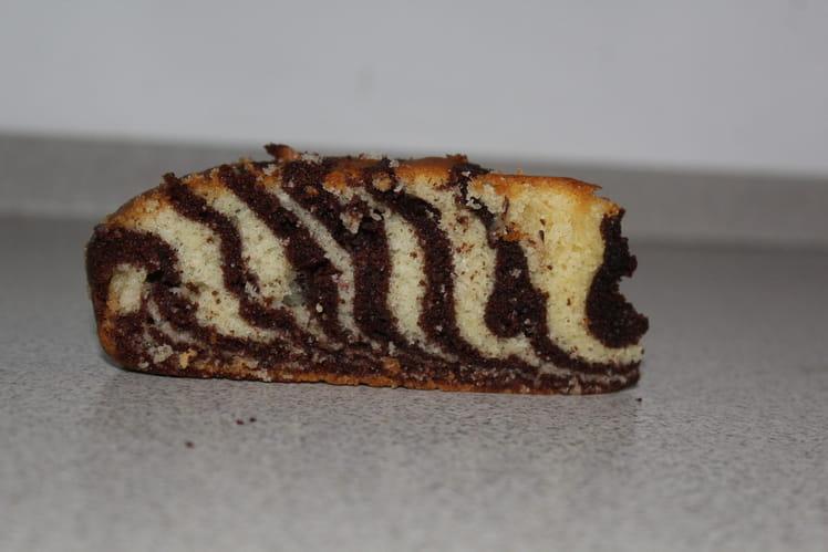 Gâteau zébré vanille-chocolat