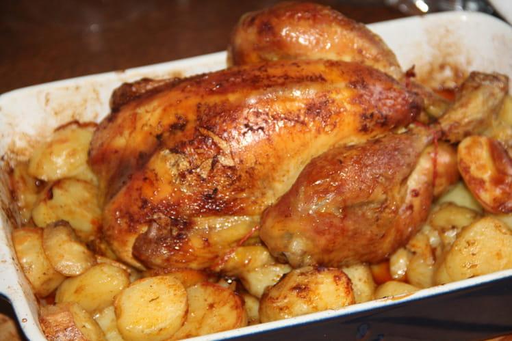 Poulet rôti du dimanche au curcuma et paprika