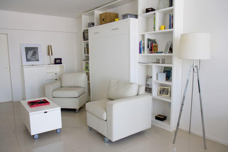 un espace salon modulable. Black Bedroom Furniture Sets. Home Design Ideas