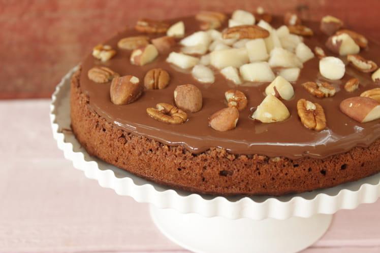 Fondant chocolat poire sans sucre ni beurre