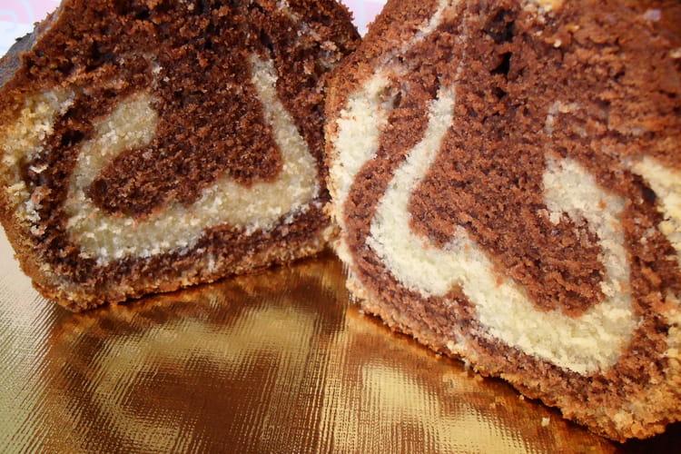 Cake marbré très moelleux sans levure