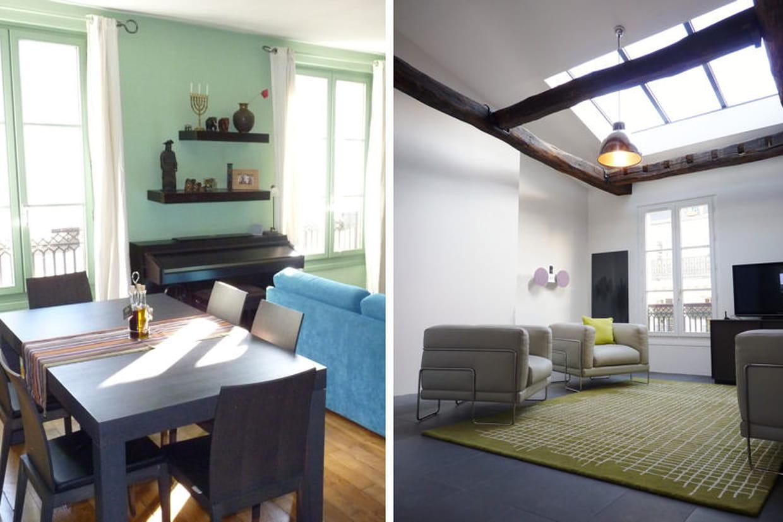 m tamorphose d 39 un appartement sous les toits. Black Bedroom Furniture Sets. Home Design Ideas