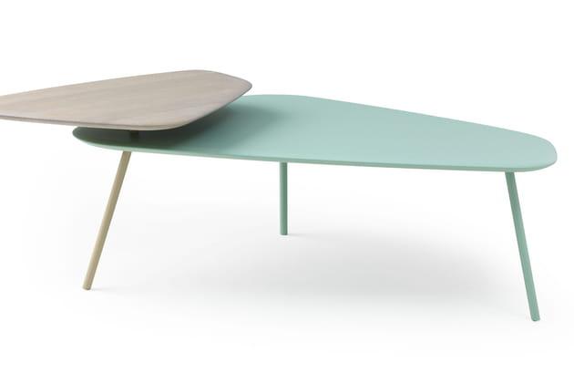 Une table basse à deux niveaux