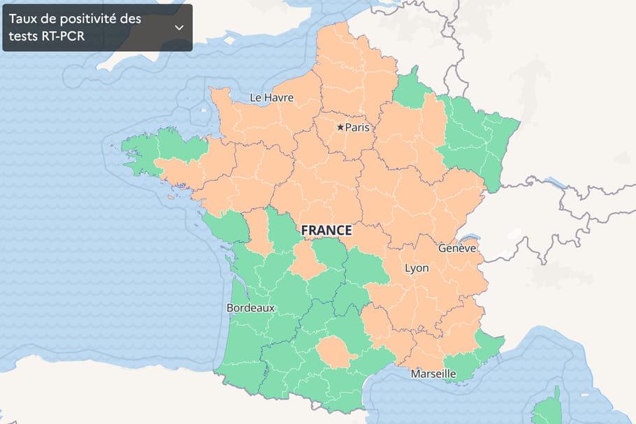 CARTE COVID: par départements, vaccination, Europe, France