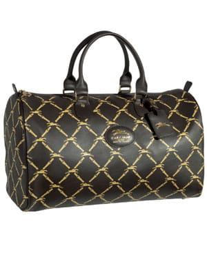 le sac de voyage 'lm vintage' moka, en cuir de veau souple, 490 euros