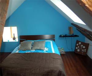 J\'adore associer le bleu turquoise avec le marron chocolat\