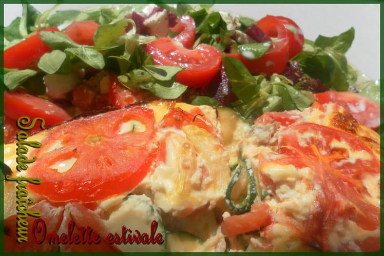 Omelette aux legumes façon gratin