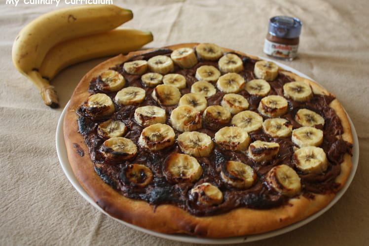 Tarte pizza bananes Nutella