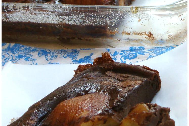 Clafoutis poire-chocolat