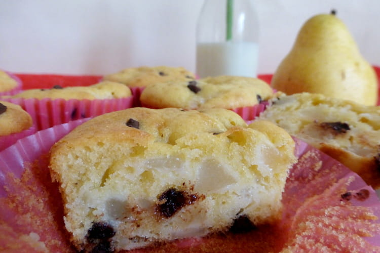 Muffins moelleux poires chocolat