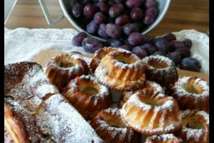 Clafoutis aux quetsches-pomme et jus de melon au jasmin