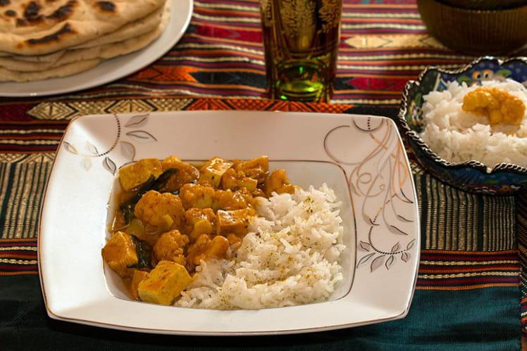 Tofu korma au chou-fleur