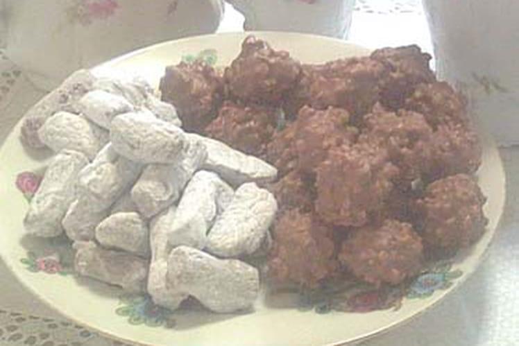 Rochers pralinés et truffes muscadines