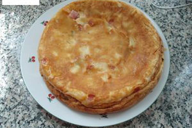 Clafoutis de mozzarella aux deux jambons