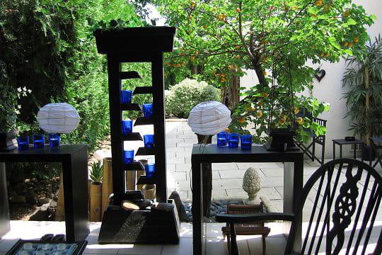 En bleu et noir for Deco japonaise jardin caen