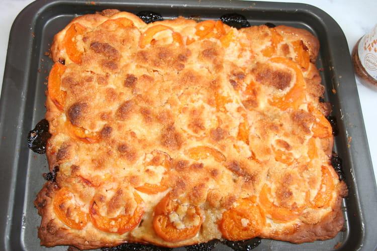 Tarte aux abricots façon crumble