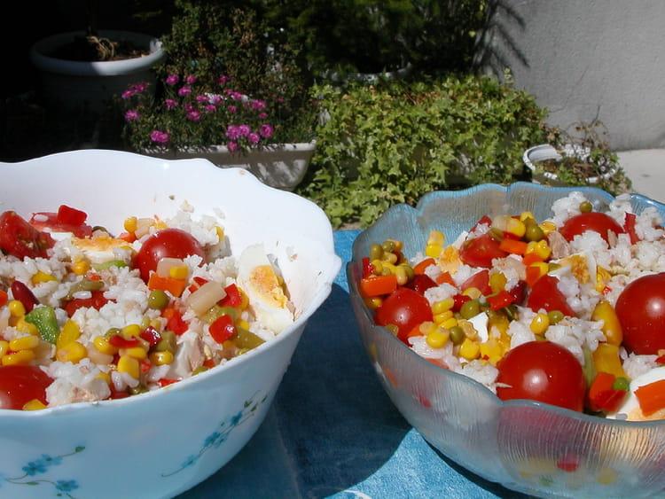 Idee Repas Froid Midi.Salade De Riz La Meilleure Recette