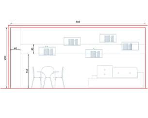 plan 4 : elévation de la bande de couleur pour la déco