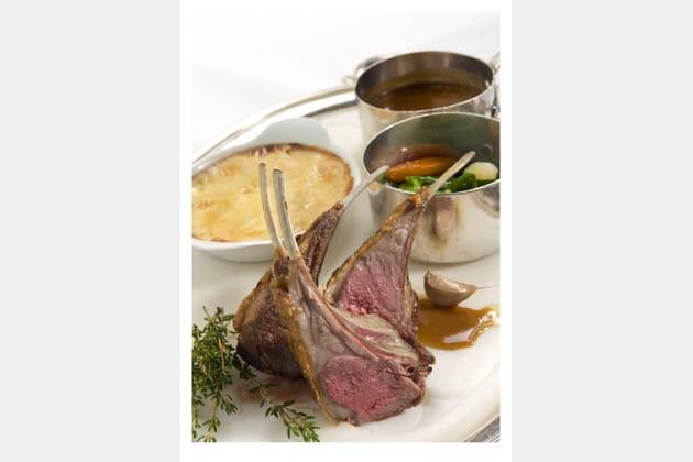 Côtes d'agneau rôties au thym