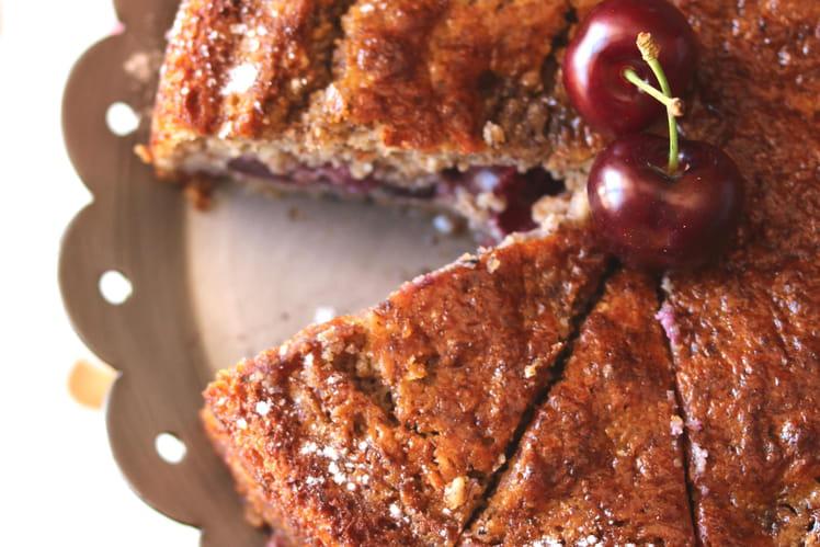 Gâteau aux cerises et à la ricotta