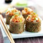 5 sushi crepes sarrasin et tartare de saumon redaction