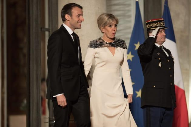 Emmanuel et Brigitte Macron... Que d'émotions!