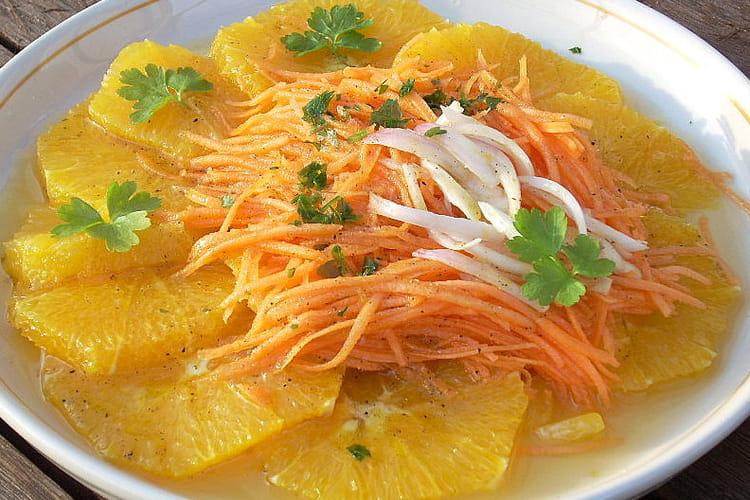 Salade de carottes à l'orange et au gingembre