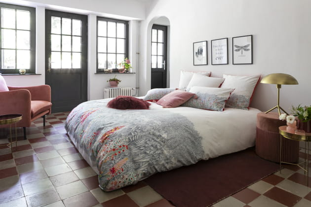 housse de couette idylle de carr blanc. Black Bedroom Furniture Sets. Home Design Ideas