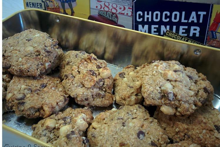 Cookies healthy au chocolat et son d'avoine