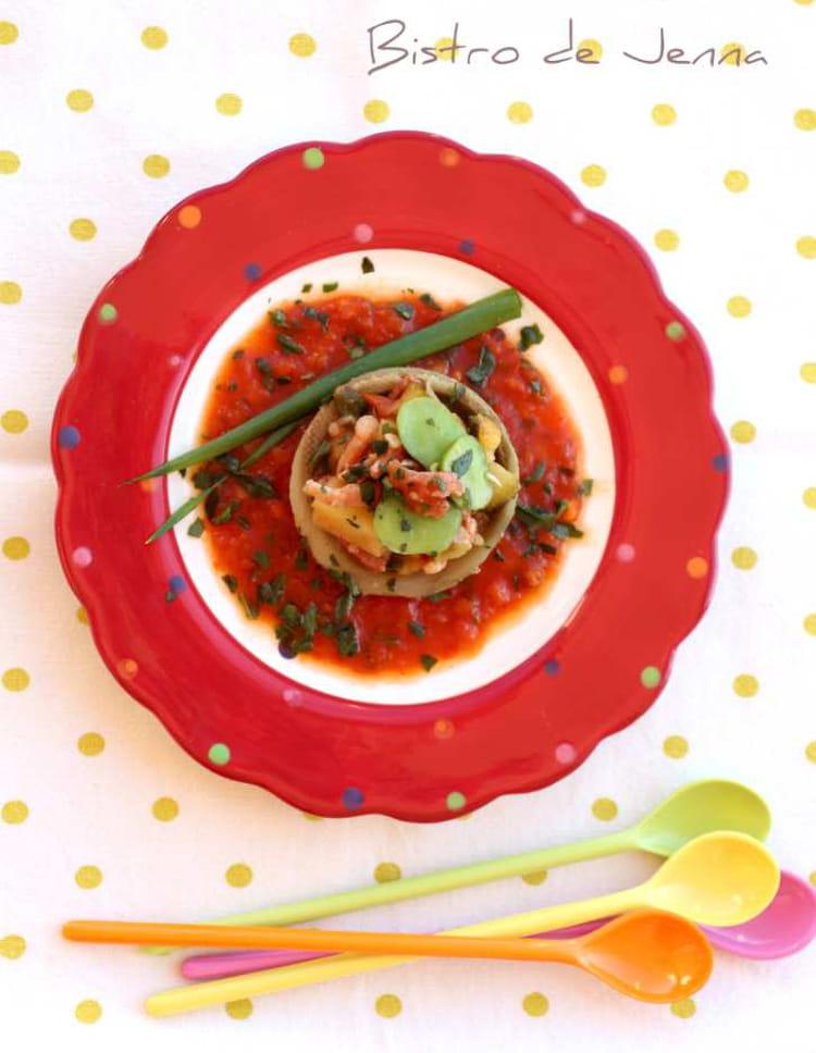 Recette de coeur d 39 artichaut de bretagne farci aux petits - Cuisiner coeur d artichaut ...