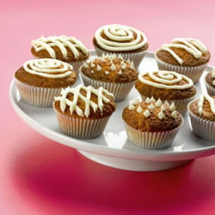 cupcake au chocolat blanc, pomme et calvados®