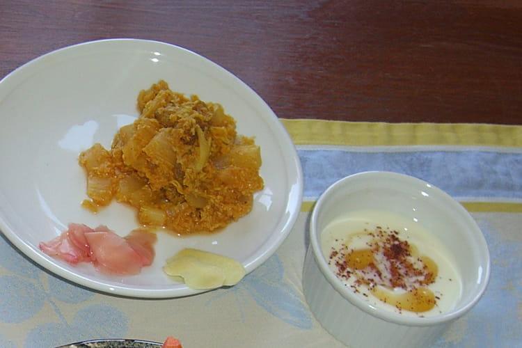 Achard de chou chinois au yaourt au miel