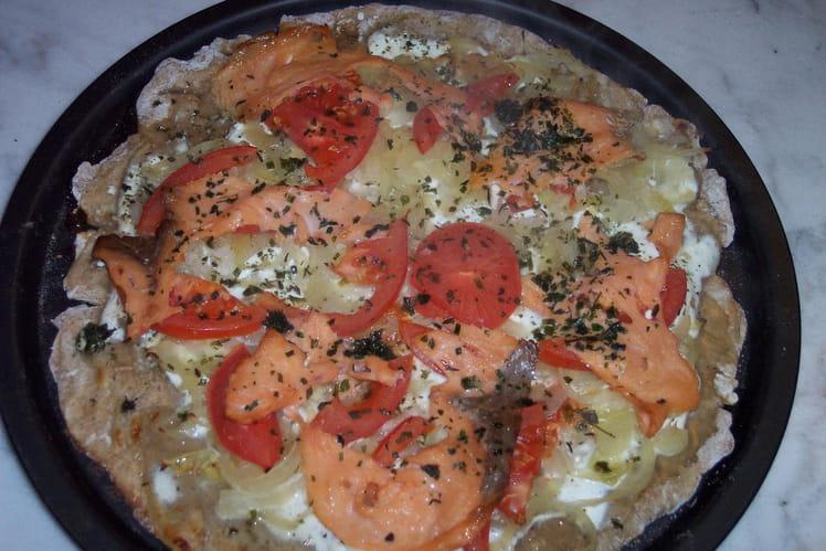 Pizza light  au saumon