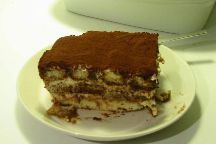 Tiramisu au chocolat en poudre