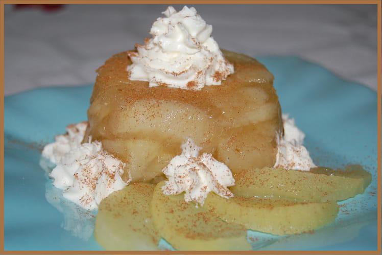 Aspic de pomme à la cannelle