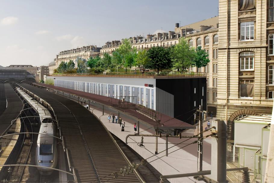 le balcon vert un nouveau jardin public au dessus de la gare de l est. Black Bedroom Furniture Sets. Home Design Ideas