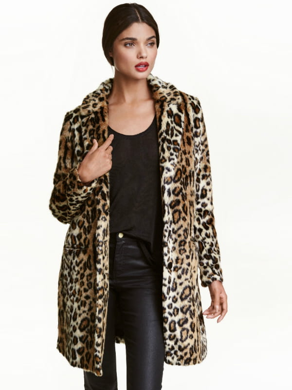 manteau leopard de h m. Black Bedroom Furniture Sets. Home Design Ideas